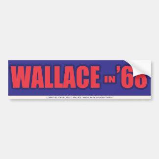 "1968 George Wallace ""Wallace in 68"" Bumper Sticker Car Bumper Sticker"