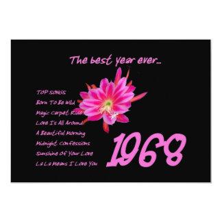 """1968 golpes de los OLDIES - reunión, cumpleaños, Invitación 5"""" X 7"""""""
