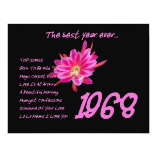 """1968 golpes de los OLDIES - reunión, cumpleaños, Invitación 4.25"""" X 5.5"""""""