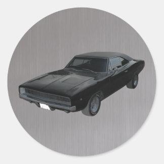 1968 gris negro mopar del cargador r/t del regate pegatina redonda