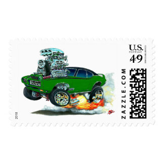 1968 GTO Green Car Stamp