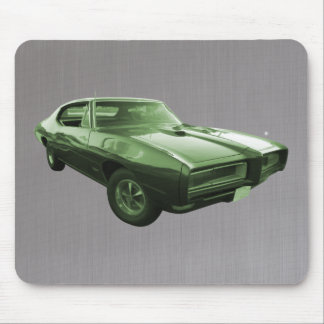 1968 GTO Muscle Car green Mouse Pad