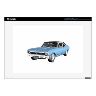 1968 Light Blue Muscle Cars Laptop Skin