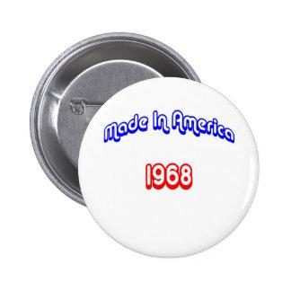 1968 Made In America Pinback Button