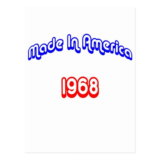 1968 Made In America Postcard