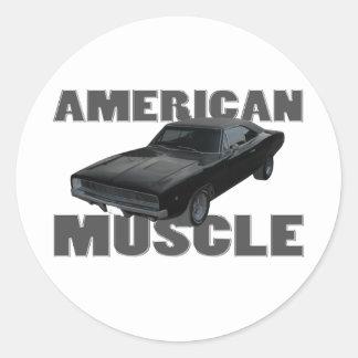1968 músculo del americano del cargador r/t del pegatina redonda