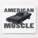 1968 músculo del americano del cargador r/t del re tapetes de ratón