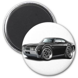 1968 Olds 442  Black Car 2 Inch Round Magnet