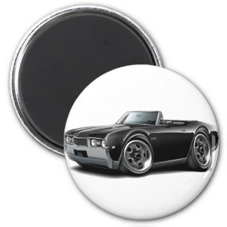 1968 Olds 442  Black Convertible 2 Inch Round Magnet