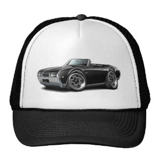 1968 Olds 442  Black Convertible Trucker Hat