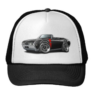 1968 Olds 442  Black-Red Convertible Trucker Hat