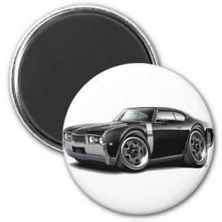 1968 Olds 442  Black-White Car 2 Inch Round Magnet