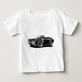 1968 Olds 442  Black-White Convertible Baby T-Shirt
