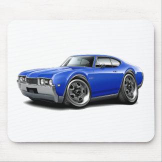 1968 Olds 442 Blue Car Mousepads