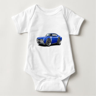 1968 Olds 442 Blue-White Car Baby Bodysuit
