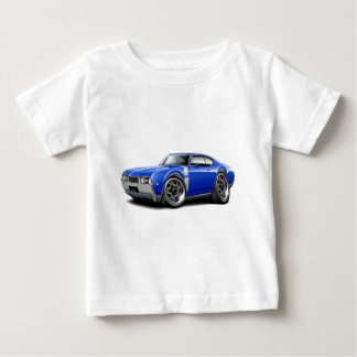 1968 Olds 442 Blue-White Car Baby T-Shirt