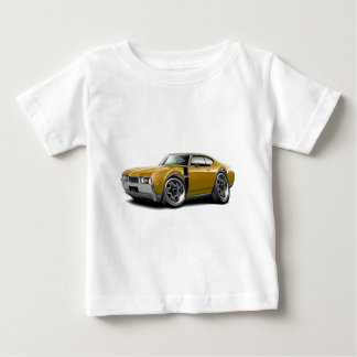 1968 Olds 442 Gold-Black Car Baby T-Shirt