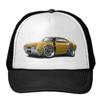 1968 Olds 442 Gold-Black Car Trucker Hat