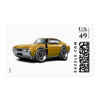 1968 Olds 442 Gold-Black Car Postage