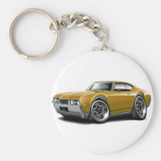 1968 Olds 442 Gold Car Keychain