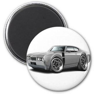 1968 Olds 442 Grey-Black Car 2 Inch Round Magnet