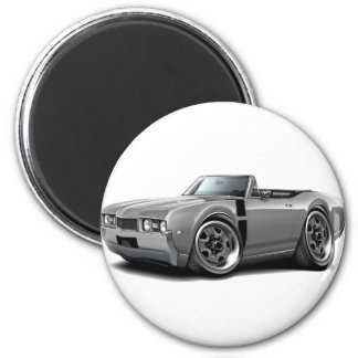1968 Olds 442 Grey-Black Convertible 2 Inch Round Magnet