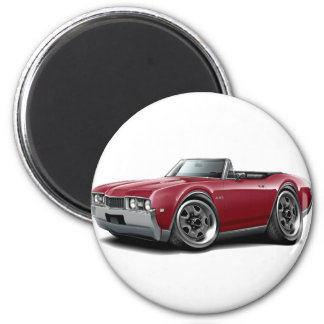 1968 Olds 442 Maroon Convertible 2 Inch Round Magnet