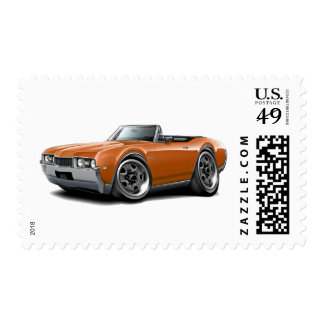 1968 Olds 442 Orange Convertible Postage