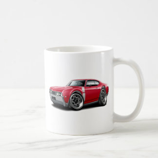 1968 Olds 442 Red-White Car Coffee Mugs