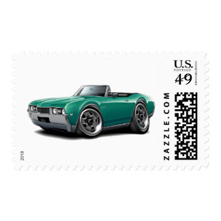1968 Olds 442 Teal Convertible Postage