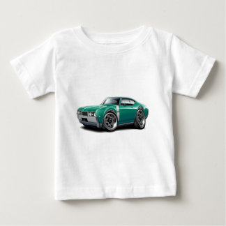 1968 Olds 442 Teal-White Car Baby T-Shirt