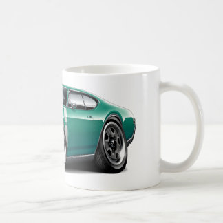 1968 Olds 442 Teal-White Car Coffee Mugs