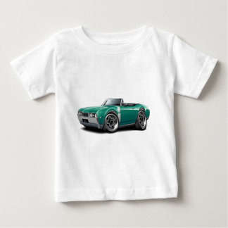 1968 Olds 442 Teal-White Convertible Baby T-Shirt