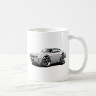 1968 Olds 442 White Car Coffee Mug
