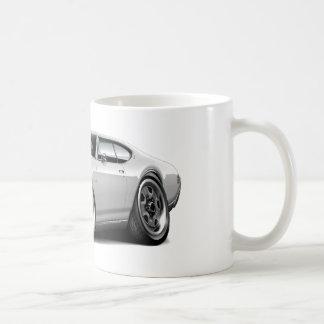 1968 Olds 442 White Car Coffee Mugs