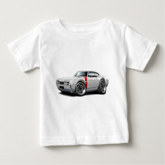 1968 Olds 442 White-Red Car Baby T-Shirt