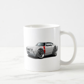 1968 Olds 442 White-Red Car Coffee Mugs