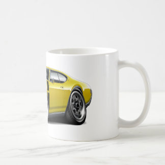 1968 Olds 442 Yellow-Black Car Coffee Mugs