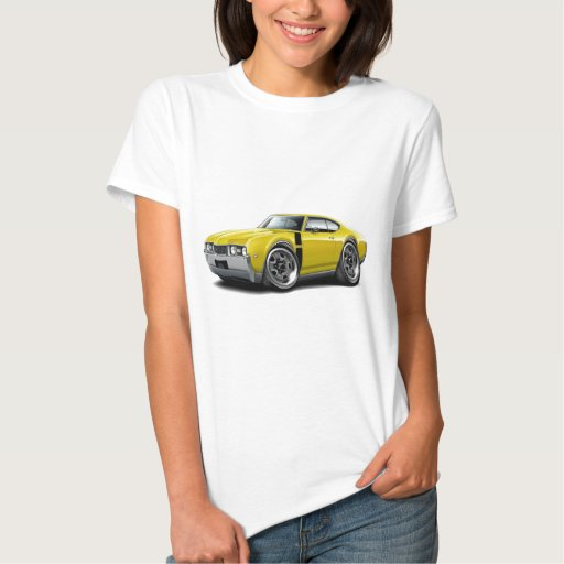 1968 Olds 442 Yellow-Black Car T-shirt