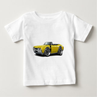 1968 Olds 442 Yellow-Black Convertible Baby T-Shirt