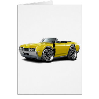 1968 Olds 442 Yellow-Black Convertible Card