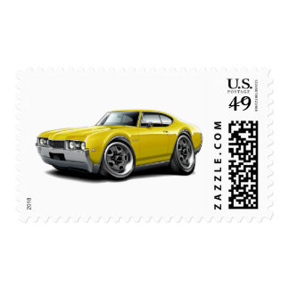 1968 Olds 442 Yellow Car Postage