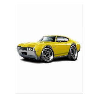 1968 Olds 442 Yellow Car Postcard