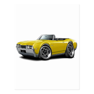 1968 Olds 442 Yellow Convertible Postcard