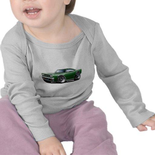 1968 oscuridad de Plymouth GTX - verde - coche neg Camiseta