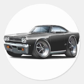 1968 Plymouth GTX Black Car Stickers