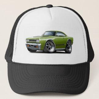 1968 Plymouth GTX Ivy-Black Car Trucker Hat