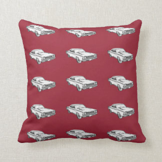 1968 Plymouth Roadrunner Muscle Car Illustration Throw Pillow