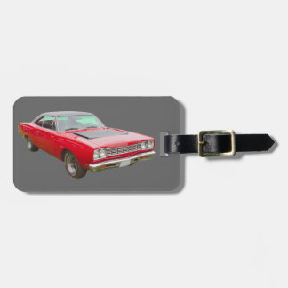 1968 Plymouth Roadrunner Muscle Car Tags For Bags