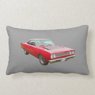 1968 Plymouth Roadrunner Muscle Car Lumbar Pillow